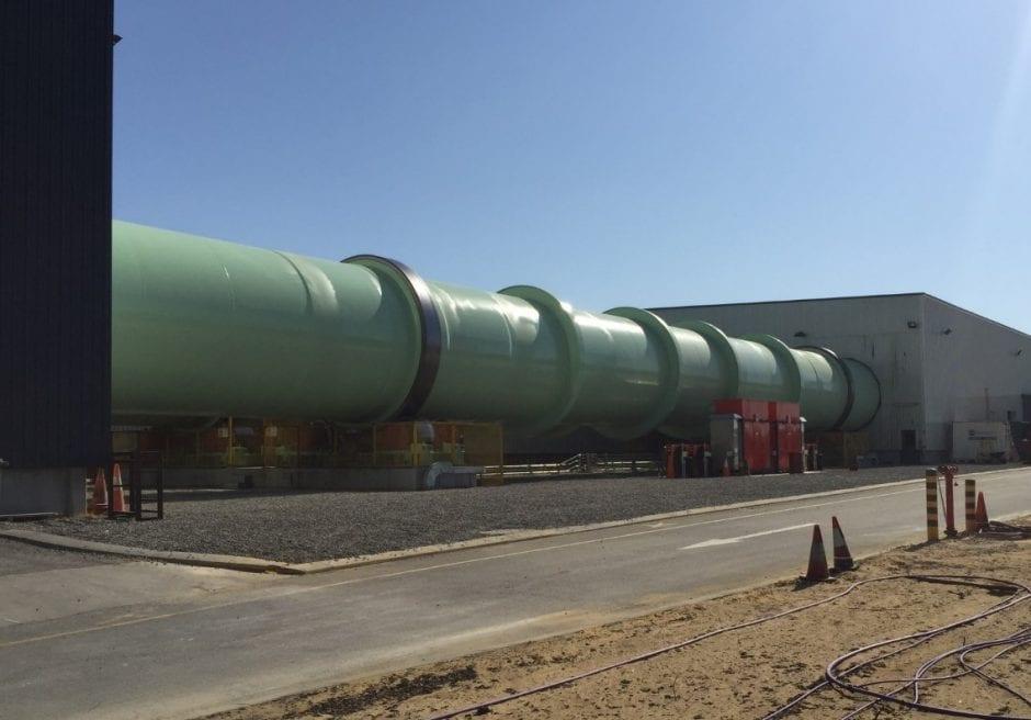 4.6m diameter x 70m long Rotating Composter